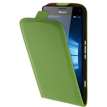 Artificial Leather Case for Microsoft Lumia 950 XL Flip-Case green