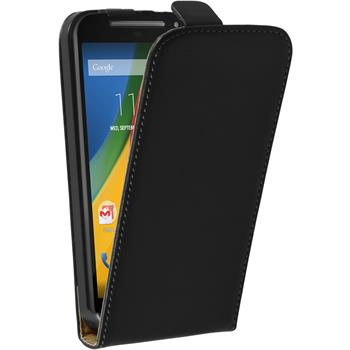 Artificial Leather Case for Motorola Moto G 2014 2. Generation Flipcase black