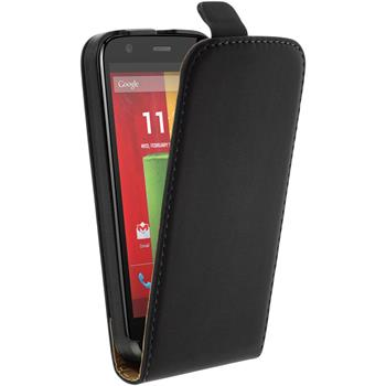 Artificial Leather Case for Motorola Moto G Flipcase black