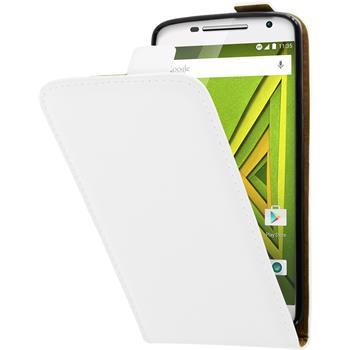Artificial Leather Case for Motorola Moto X Play Flip-Case white