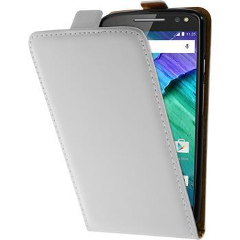 Artificial Leather Case for Motorola Moto X Style Flip-Case white