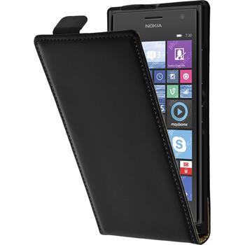 Artificial Leather Case for Nokia Lumia 730 Flipcase black
