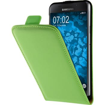 Artificial Leather Case for Samsung Galaxy A3 (2016) A310 Flip-Case green + protective foils