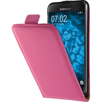 Artificial Leather Case for Samsung Galaxy A3 (2016) A310 Flip-Case hot pink + protective foils