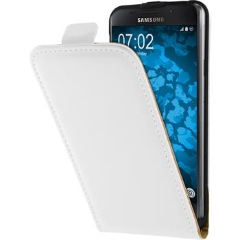 Artificial Leather Case for Samsung Galaxy A3 (2016) A310 Flip-Case white + protective foils