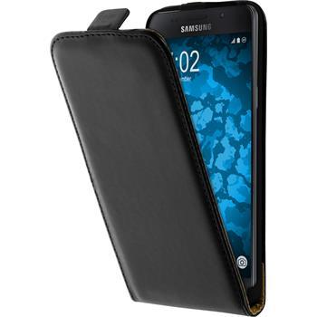 Artificial Leather Case for Samsung Galaxy A5 (2016) A510 Flip-Case black + protective foils