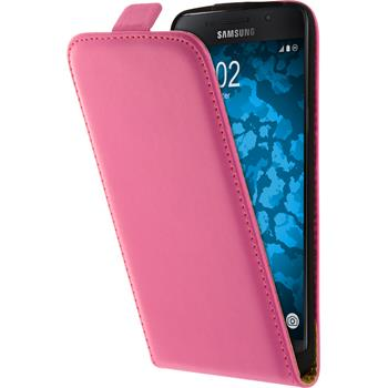 Artificial Leather Case for Samsung Galaxy A5 (2016) A510 Flip-Case hot pink + protective foils