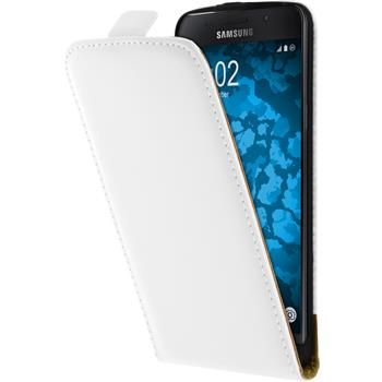 Artificial Leather Case for Samsung Galaxy A5 (2016) A510 Flip-Case white + protective foils