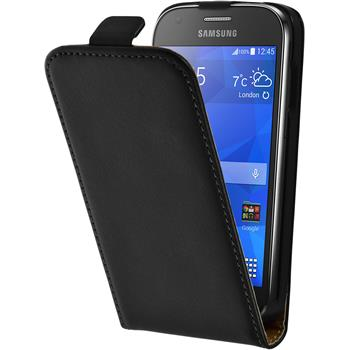 Artificial Leather Case for Samsung Galaxy Ace 4 Flipcase black