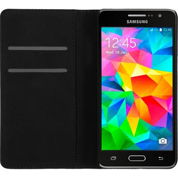 Artificial Leather Case for Samsung Galaxy Grand Prime Bookstyle black