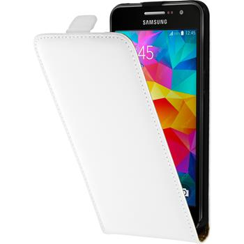 Artificial Leather Case for Samsung Galaxy Grand Prime Flip-Case white