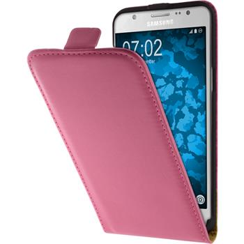 Artificial Leather Case for Samsung Galaxy J5 (2016) J510 Flip-Case hot pink