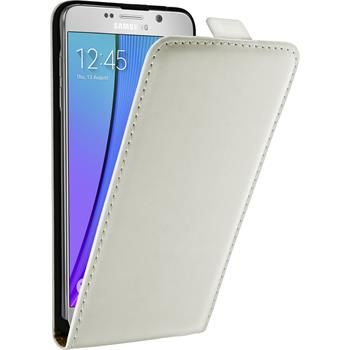 Artificial Leather Case for Samsung Galaxy Note 5 Flipcase white