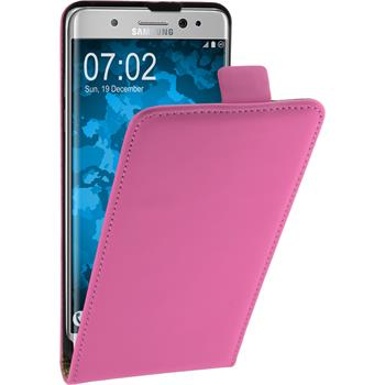 Artificial Leather Case for Samsung Galaxy Note 7 Flip-Case hot pink