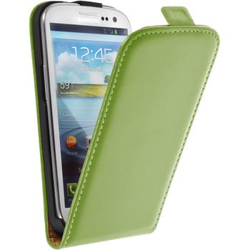 Artificial Leather Case for Samsung Galaxy S3 Neo Flipcase green