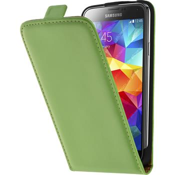 Artificial Leather Case for Samsung Galaxy S5 Flipcase green
