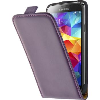 Artificial Leather Case for Samsung Galaxy S5 Flipcase purple