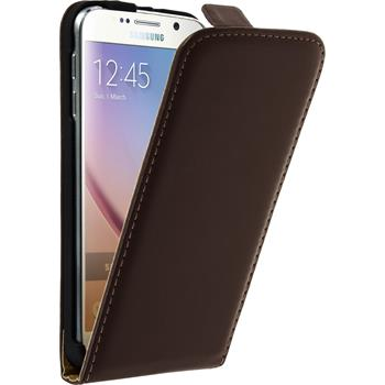Artificial Leather Case for Samsung Galaxy S6 Flipcase brown