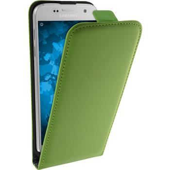 Artificial Leather Case for Samsung Galaxy S7 Flip-Case green