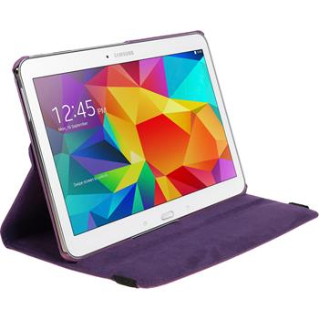 Artificial Leather Case for Samsung Galaxy Tab 4 10.1 360° purple