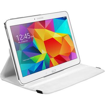 Artificial Leather Case for Samsung Galaxy Tab 4 10.1 360° white