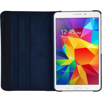 Artificial Leather Case for Samsung Galaxy Tab 4 7.0 360° blue