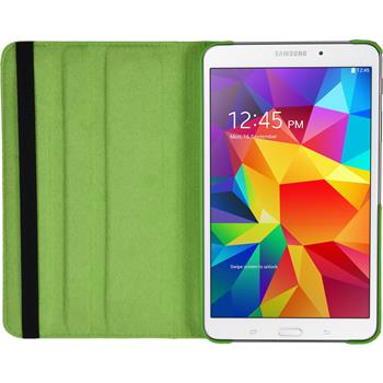 Artificial Leather Case for Samsung Galaxy Tab 4 7.0 360° green