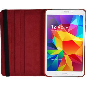 Artificial Leather Case for Samsung Galaxy Tab 4 7.0 360° red