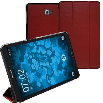 Artificial Leather Case Galaxy Tab A 10.1 (2016) Tri-Fold red