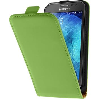 Artificial Leather Case for Samsung Galaxy Xcover 3 Flipcase green