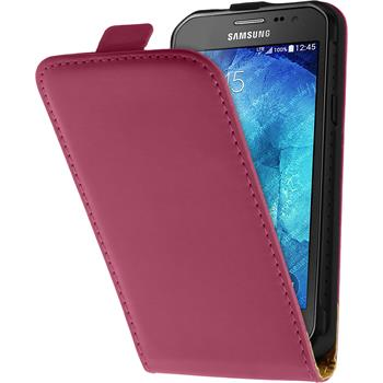Artificial Leather Case for Samsung Galaxy Xcover 3 Flipcase hot pink
