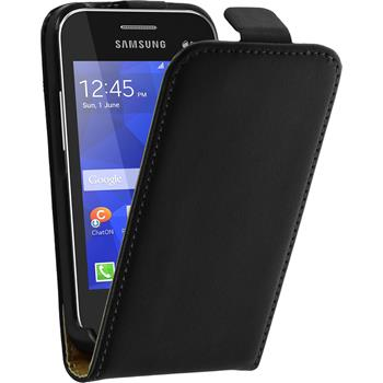 Artificial Leather Case for Samsung Galaxy Young 2 Flipcase black