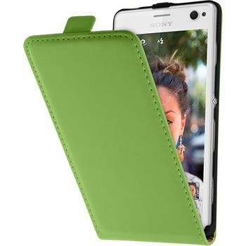 Artificial Leather Case for Sony Xperia C4 / Dual Flipcase green