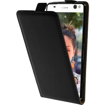 Artificial Leather Case for Sony Xperia C5 Ultra Flipcase black