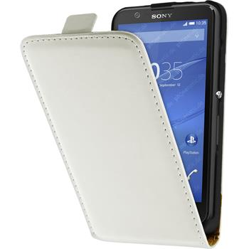 Artificial Leather Case for Sony Xperia E4 Flipcase white