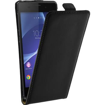 Artificial Leather Case for Sony Xperia Z3 Flipcase black