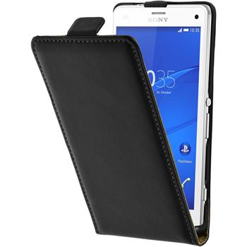 Artificial Leather Case for Sony Xperia Z3 Compact Flipcase black