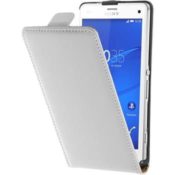 Artificial Leather Case for Sony Xperia Z3 Compact Flipcase white