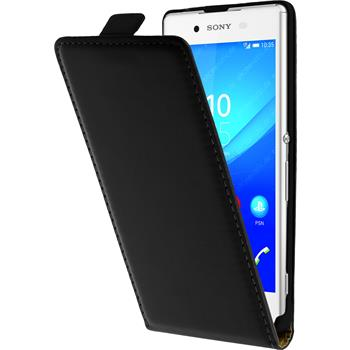 Artificial Leather Case for Sony Xperia Z3+ Flipcase black