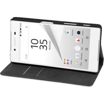 Artificial Leather Case for Sony Xperia Z5 Bookstyle white