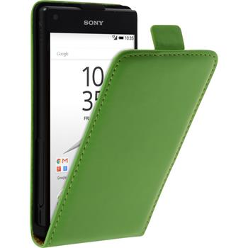 Artificial Leather Case for Sony Xperia Z5 Compact Flip-Case green