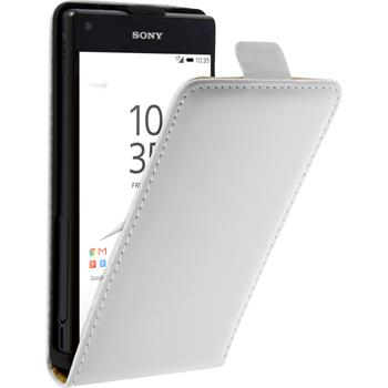 Artificial Leather Case for Sony Xperia Z5 Compact Flip-Case white