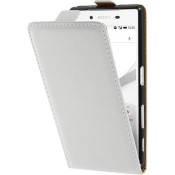 Artificial Leather Case for Sony Xperia Z5 Flipcase white