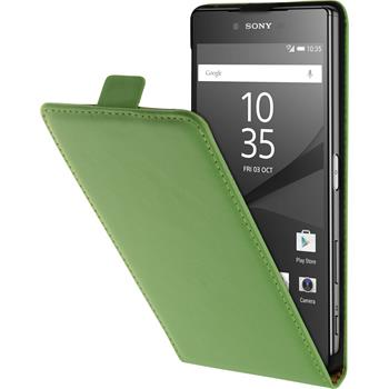 Artificial Leather Case for Sony Xperia Z5 Premium Flip-Case green