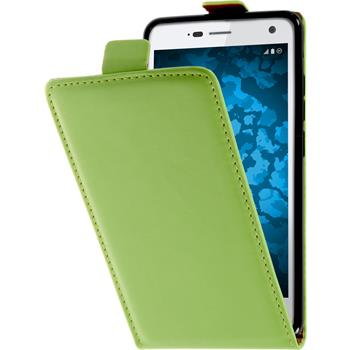 Artificial Leather Case for ZTE Blade L3 Flip-Case green
