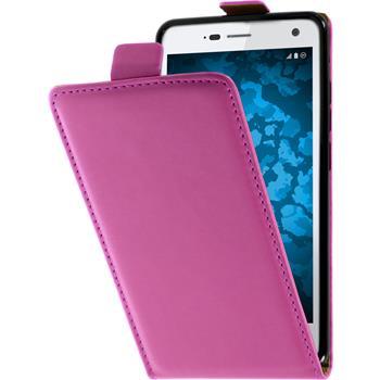 Artificial Leather Case for ZTE Blade L3 Flip-Case hot pink