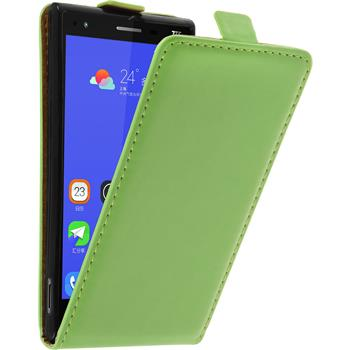 Artificial Leather Case for ZTE Star 2 Flip-Case green