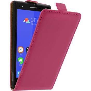 Artificial Leather Case for ZTE Star 2 Flip-Case hot pink