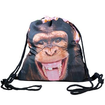 cosey - Gym bag with allover print  - monkey
