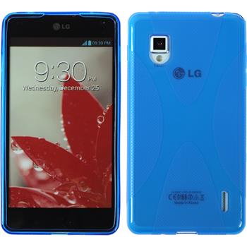 Silicone Case for LG Optimus G X-Style blue